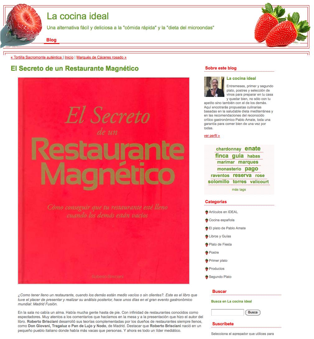 La Cocina Ideal. Blog de Pablo Amate